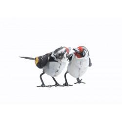 Couple Chardonnerets (Métal...